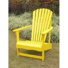 Outer Banks Polywood Folding Adirondack Chair by New Deluxe Outer Banks Yellow Poly Wood Folding Adirondack Chair
