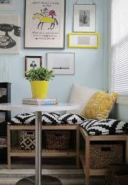 kleines wohnzimmer mit essbereich einrichten sitzbank