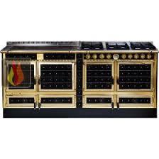 cuisiner au gaz ou à l électricité piano de cuisson bois gaz et électrique 200cm avec 3 fours et