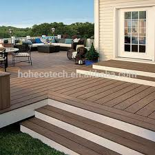 PE WPC Engineered Wood Flooring For Garden Decking Mold