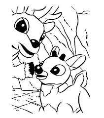 Rudolph And His Dad Donner Reindeer Coloring Page