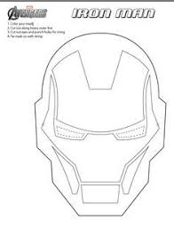 Jinxy Kids Printable Iron Man Mask To Color IronMan3Event
