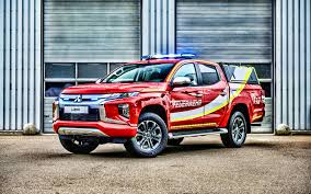 100 Fire Truck Red Download Wallpapers 4k Mitsubishi L200 Fire Truck Red