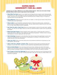 Giving Back Is A Great Lesson To Teach Here Are Some Tips For The