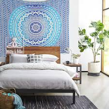 Blue Indian Boho Style Psychedelic from Royal Furnish