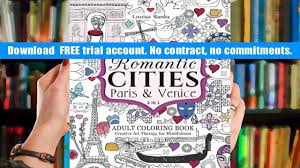 FREE DOWNLOAD Love Romantic Cities Paris And Venice 2 In 1 Adult Coloring Book Creative Art