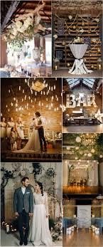 Indoor Rustic Wedding Ideas Industrial Ceremony Decor Deer