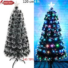 Christmas Tree 4 5 6 Fiber Optic LED Colour Changing Traditional
