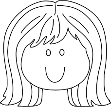 Coloring Pages Of Little Girls Face And Hair