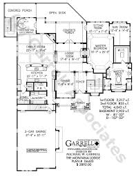 Montana Lodge House Plan 06420 1st Floor