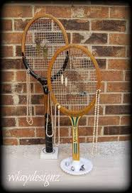 Handcrafted Retail Product Jewelry Display Organizer Tennis Racquets Rackets