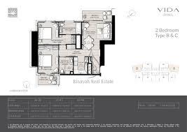 C Floor Plans by Floor Plans Vida Residences Dubai Marina