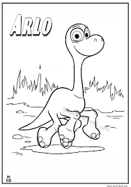 Good Dinosaur Coloring Pages Arlo