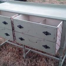 Refinshed Annie Sloan Chalk Paint Distressed Sideboard Buffet Entertainment Stand Table Painted Furniture
