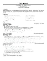 Production Worker Resume Examples Example Sample Info Professional Warehouse Resources Manager Objective