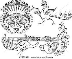 Clip Art Of Bird Peacock Style Tattoo K7832947