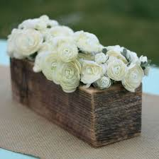 Love This Barn Wood Vase Planter Centerpiece Flower Arrangement Holder So Sweet