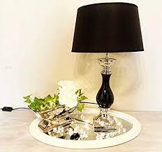 druline tischle le nachttisch leuchte mit schirm klassische dekoration fürs schlafzimmer wohnzimmer esszimmer aus keramik groß l x b x h