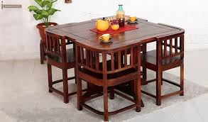 Get This Amazing Space Saving 4 Seater Dining Table Set Online And Have Gorgeous Room Interiors The Creative Design Of Furniture