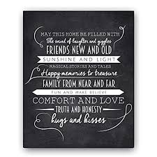 May This Home Chalkboard Typography Wall Sign By Ocean Drop Designs The Perfect New Or Housewarming Gift