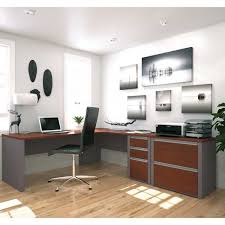 Bestar L Shaped Desk by Bestar Connexion L Shaped Workstation With Lateral File