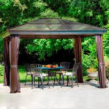 Shop Gazebos At Lowes.com Outdoor Affordable Way To Upgrade Your Gazebo With Fantastic 9x9 Pergola Sears Gazebos Gorgeous For Shadetastic Living By Garden Arc Lighting Fixtures Bistrodre Porch And Glamorous For Backyard Design Ideas Pergola 11 Wonderful Deck Designs The Home Japanese Style Pretty Canopies Image Of At Concept Gallery Woven Wicker Chronicles Of Patio Landscaping Nice Best 25 Plans Ideas On Pinterest Diy Gazebo Vinyl Wood Billys