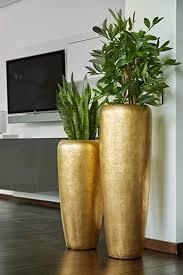 edle hochwertige pflanzvase pflanzkübel fiberglas mit einsatz indoor metallic metallisch blumenkübel pflanzgefäß vase kübel groß 120cm