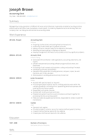 Accounting Clerk - Resume Samples & Templates | VisualCV Accounting Clerk Resume Template Ideas Gas Station Attendant New Sample Samples Accounts Receivable Position Wattweilerorg Mesmerizing General In Accounting Clerk Resume Sample Sazakmouldingsco Cover Letter Examples For Dental 19 Beautiful Title Atclgrain Personal Objectives For Rumes 20 Senior Payroll