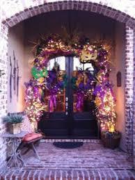 Burlap Mardi Gras Door Decorations by Beautiful Festive Front Door Mardi Gras Decor Pinterest