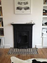 Fireplace Hearth Tile Dining Room Could Be Re Tiled In Black And White As Cohesive Link To Entrance Grout