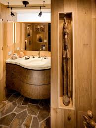 Rustic Bathroom Lighting Ideas by Rustic Bathroom Designs Example Of A Mountain Style Beige Tile