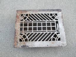 vintage metal furnace grate floor wall heater vent cover vent
