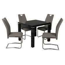 Trend High Gloss Black 3ft Square Dining Table & 4 Chairs Aldridge High Gloss Ding Table White With Black Glass Top 4 Chairs Rowley Black Ding Set And Byvstan Leifarne Dark Brown White Fnitureboxuk Giovani Blackwhite Set Lorenzo Chairs Seats Cosco 5piece Foldinhalf Folding Card Garden Fniture Set Quatro Table Parasol Black Steel Frame Greywhite Striped Cushions Abingdon Stoway Fads Hera 140cm In Give Your Ding Room A New Look Rhonda With Inspire Greywhite Kids Chair