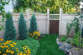 Rustic Ranch Fence Landscape Contemporary With Wood Fencing Garden Grass Path