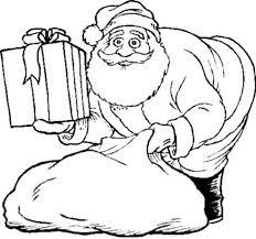 Printable Coloring Pages Christmas Santa Free