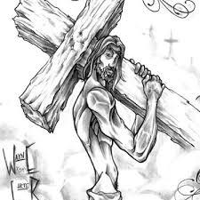 Pain Is Love Jesus Tattoo Design