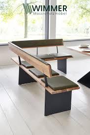 massivholz eckbank mit polster hausmöbel sitzbank küche