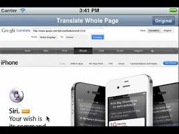 How to translate the whole web page iPhone