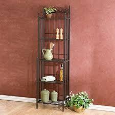 amazon com metal grey baker u0027s rack plant stand kitchen or dining