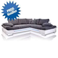 ecksofa weiß silber led 2 sitzer links sofa weiß