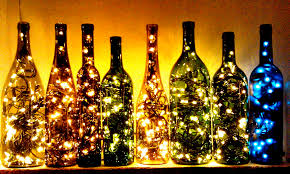 Decorative Wine Bottles With Lights by Upcycling The Rusty Gold