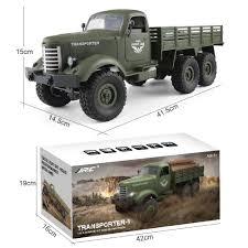 100 Rc Off Road Trucks JJRC Q60 116 24G 6WD RC Road Crawler Military Truck Army Car