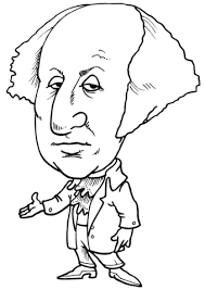Click To See Printable Version Of George Washington Caricature Coloring Page