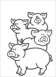 Cute Animals Printable Coloring Pages