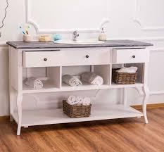 casa padrino landhaus stil waschschrank waschtisch ohne waschbecken grau weiss bad schrank