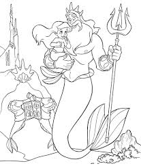 Little Mermaid Coloring Page Children