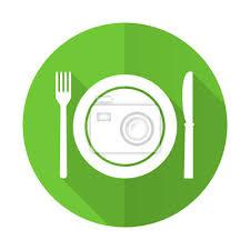 symbole cuisine manger vert plat icône restaurant symbole stickers pc portable