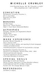 Resume Format For College Student Good Students Examples