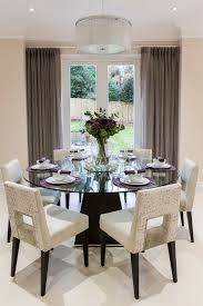 Dining Room Table Centerpiece Decor by 40 Glass Dining Room Tables To Revamp With From Rectangle To Square