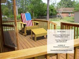 Adirondack Rocking Chair Woodworking Plans by 05 Wc 0625e American Flag Adirondack Chair Rocker Combo